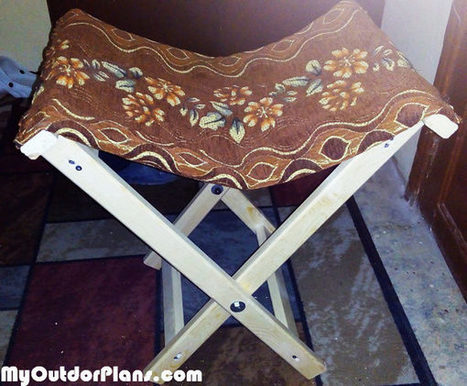 DIY Folding Stool | MyOutdoorPlans | Free Woodworking Plans and Projects, DIY Shed, Wooden Playhouse, Pergola, Bbq | Garden Plans | Scoop.it