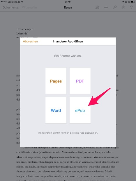 [epublishing tool]Pages for iOS 7 Now does ePub export - Absolute Write Water Cooler | iPad:  mobile Living, Learning, Lurking, Working, Writing, Reading ... | Scoop.it