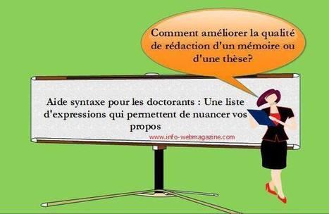 Aide syntaxe pour les doctorants : Une liste d'... | Français langue étrangère et technologies | Scoop.it