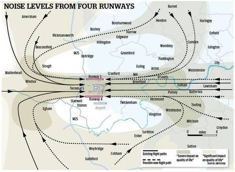 Aviation: Claims that 2 million more residents to be blighted by noise if Heathrow get their 4 runway solution | Noise News Centre | Scoop.it