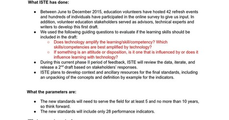 DRAFT 1 - 2016 ISTE Standards for Students | Scriveners' Trappings | Scoop.it