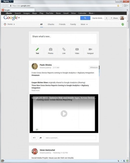 Increase the width of posts on Google+ - gHacks Technology News | Machinimania | Scoop.it