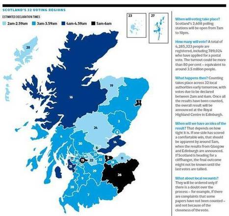 Scotland independence: Where, when, but who knows how - possible referendum results by region | Think outside the Box | Scoop.it