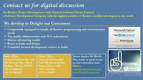 Contact Kentico CMS Development Team of Cityech Software for Digital Discussion | software&technology | Scoop.it