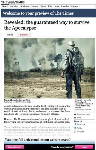 Imaginando la cobertura mediática del apocalipsis: ¿cómo informarían los medios del fin del mundo?   Community Manager   Scoop.it