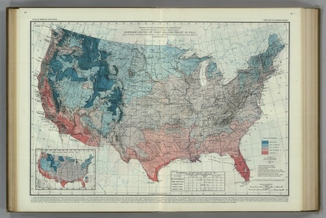 100-Year-Old Frost Maps Show How Climate Change Has Shifted the Growing Season in the United States | Humanidades digitales | Scoop.it