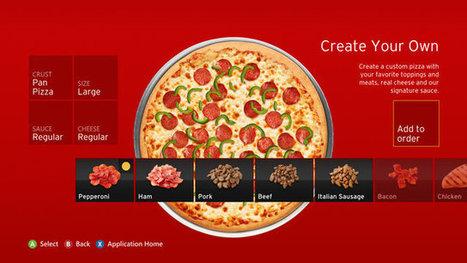 Pizza Hut launching Xbox 360 app that lets console owners order pizza from Xbox Live | Le manger, c'est la vie | Scoop.it