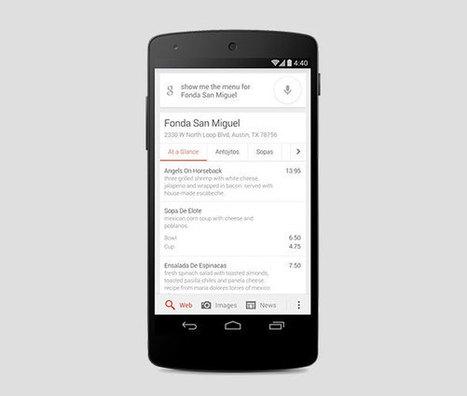 Google est désormais capable d'afficher les menus des restaurants directement dans les résultats de la recherche | Communication Globale | Scoop.it