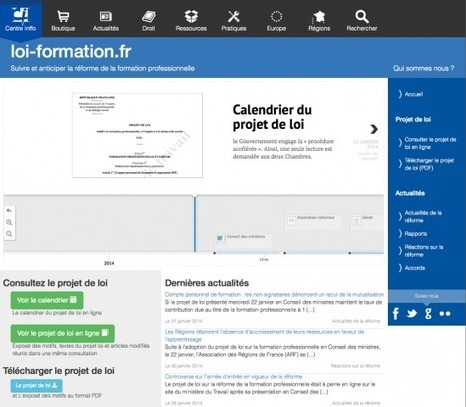 Site loi-formation.fr - Centre Inffo | Formation professionnelle continue | Scoop.it