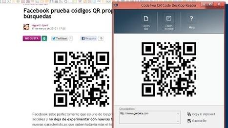 Accede al contenido de códigos QR desde el escritorio con QR Code Desktop Reader | Realidad Aumentada | Scoop.it