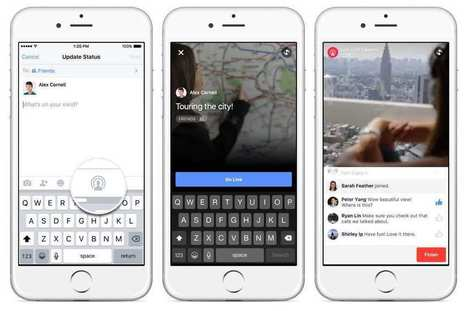 Facebook étend sa fonction « live » et rivalise avec Periscope | Marketing in a digital world and social media (French & English) | Scoop.it