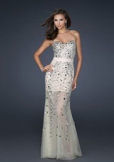 Gorgeous Ivory Long Beaded Embellishments Evening Dress [Long Beaded Prom Dress] - $168.00 : 2013 Prom Homecoming Dresses On Sale, Save 70% Off! | homecoming dresses 2013 | Scoop.it