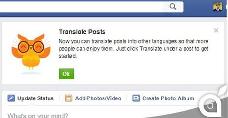 Facebook potrebbe lanciare a breve il servizio di traduzione dei post | NOTIZIE DAL MONDO DELLA TRADUZIONE | Scoop.it