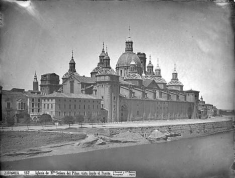 Zaragoza. El Pilar sin las torres. Hacia 1867.   Curious World   Scoop.it