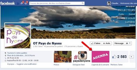Page Facebook de l'OT du Pays de Nyons | Sites qui ont implémenté les Widgets Sitra | Scoop.it