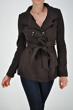 DOUBLE BUTTON CV COAT WITH BELT |SAVE UPTO 60% | FREE SHIPPING | Women's Clothing at Bvira.com | Scoop.it
