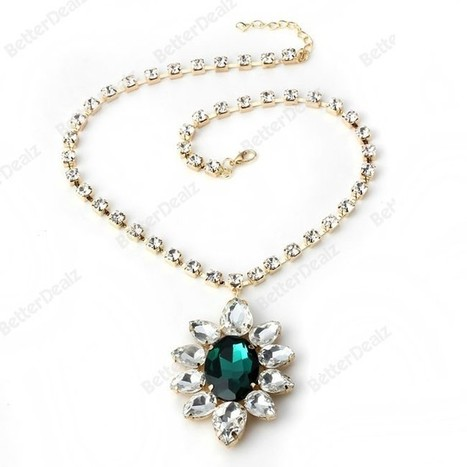 Sunflower Drop gemstone Retro necklace for women | Fashion Jewelry | Scoop.it