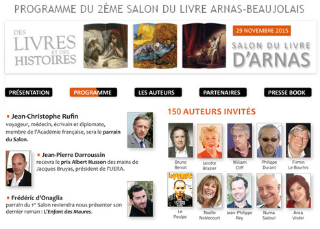 Découvrez les invités d'honneur du 2eme Salon du livre en région Arnas Beaujolais | Romans régionaux BD Polars Histoire | Scoop.it