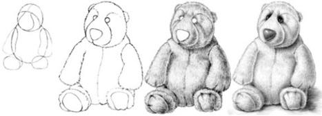 Teddy Bear Paintings Drawings Teddy Bear Drawing Tutorial