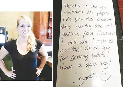 Generosity of Henniker waitress who paid soldiers' tab despite her own ... - The Union Leader | Generosity | Scoop.it