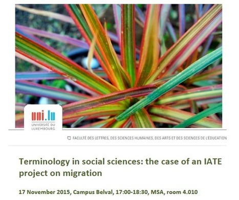 Terminology on migration by the University of Thessaloniki | TLT | Scoop.it