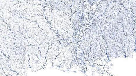 Stunning map charts every river in U.S. | Blunnie's Geo Portfolio | Scoop.it