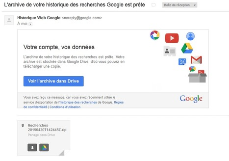 Télécharger tout votre historique #Google est maintenant possible | Time to Learn | Scoop.it