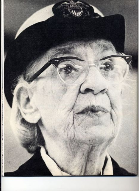 "About Grace Hopper - developed first cs compiler, popularized the term ""debug"" 