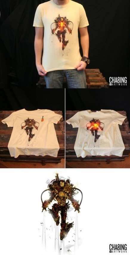 The Steampunk Iron Man T-Shirt That Lights Up Your Life - If You have one. | Steampunkerie | Scoop.it