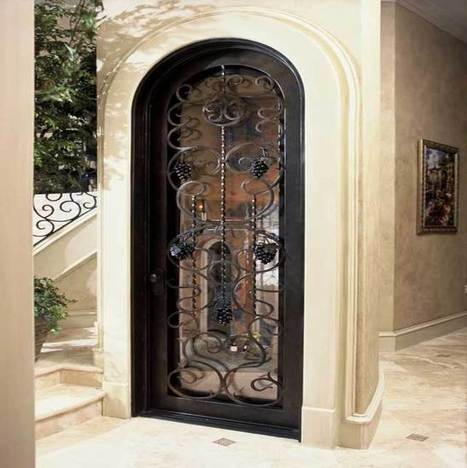 Hand Forged Wrought Iron Custom Wine Cellar Doors & Gates | Wine Cellar Specialists | Rescoops | Scoop.it