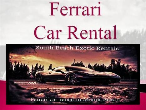Ferrari Car Rentals | News | Scoop.it