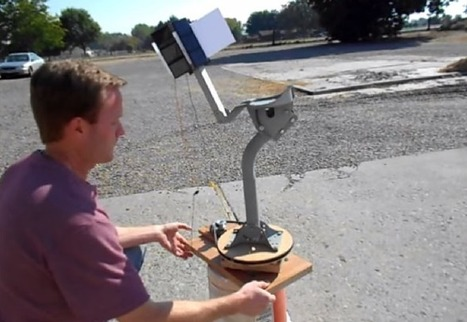 Adding Sun Tracking to a Homemade Solar PV System | All-Energy | Scoop.it