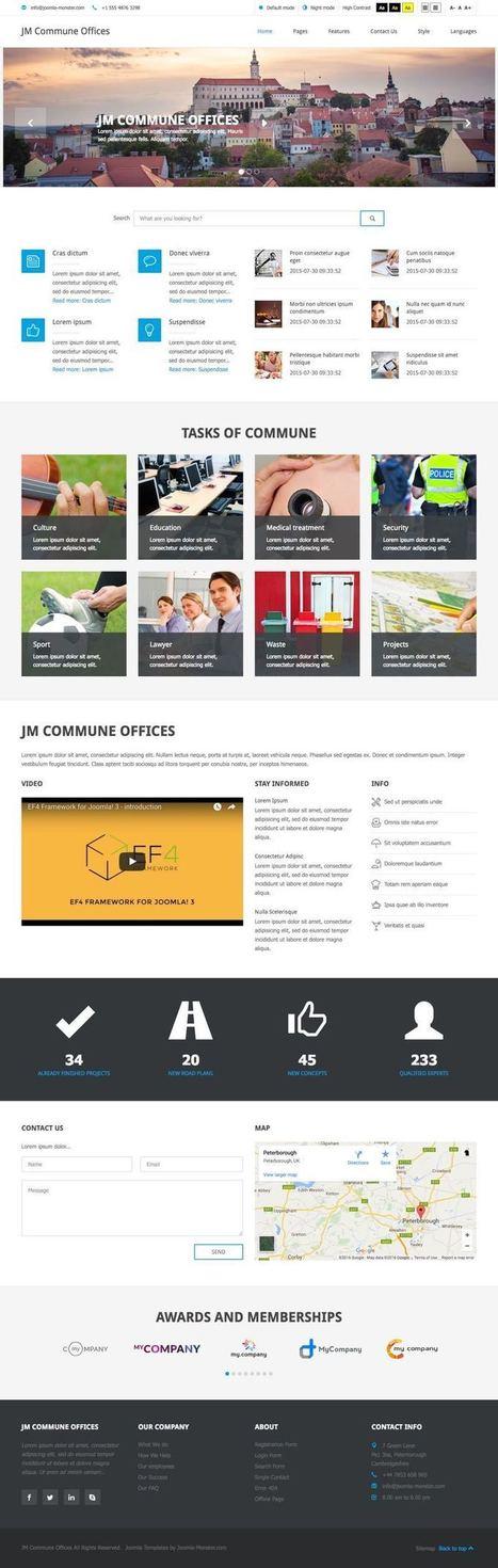 JM Commune Offices Joomla Public Institutions Template | Premium Joomla Templates | Scoop.it