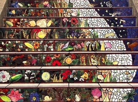 CMYK - A World Of Colour: Mosaic Staircase of San Francisco   CMYK – A wide range of amazing colour!   Scoop.it