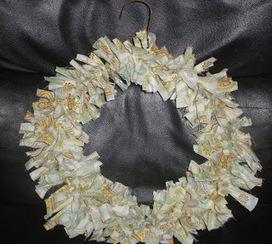 Homemade Mamas: Rag Wreath | Welcome to Discount Fabrics Lincs | Scoop.it