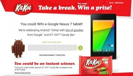 KitKat contest now live, win a Nexus 7, $5 Google Play credit or a bag of delicious | Android Nexus 7 (2013) | Scoop.it
