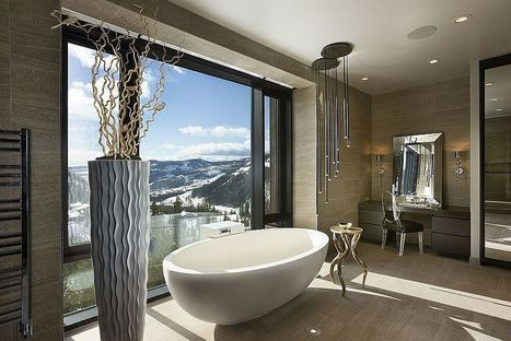 Framed to Perfection: 15 Bathrooms with Majestic Mountain Views   Decorating Ideas - Home Design Ideas   Scoop.it