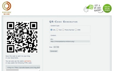 QR Codes Part 2: Using Kaywa to Generate a QR Code | Speech-Language Pathology | Scoop.it