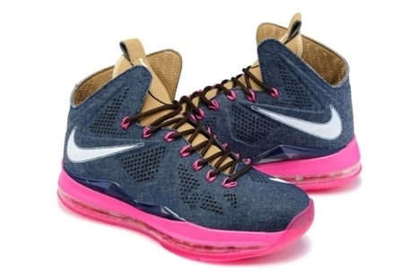 Nike Air Max LeBron James X EXT CORK QS Dark Blue Pink Cheap | Kobe 8 All Star | Scoop.it
