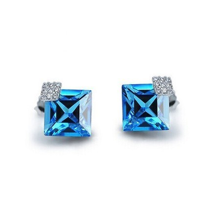 Elegant Square Swarovski Elements Crystal Earrings | Women's Earrings | Scoop.it
