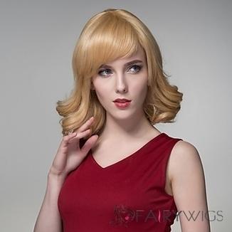 Medium Curling Human Virgin Remy Hand Tied-Top Capless Hair Woman's Wig : fairywigs.com | African American Wigs | Scoop.it