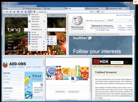Firefox - afficher plusieurs onglets à l'écran - 3 extensions | Time to Learn | Scoop.it