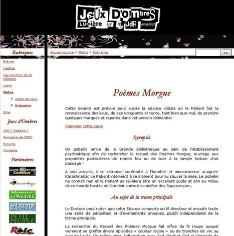 Poèmes Morgue | Jeux de Rôle | Scoop.it
