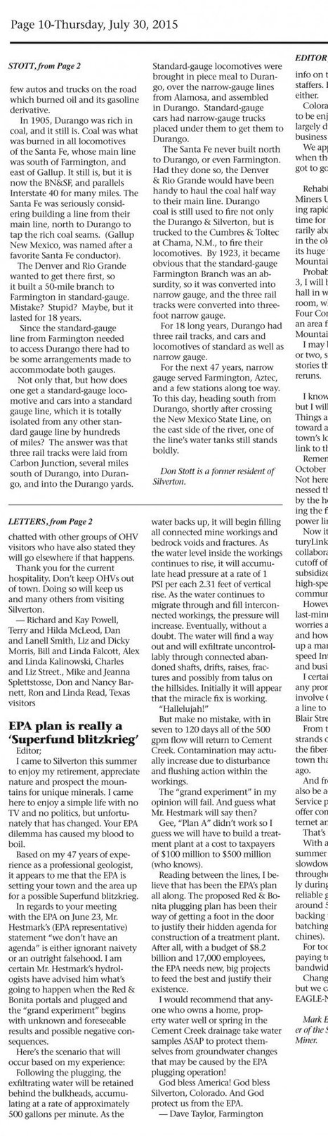 Retired Geologist Predicted EPA Spill Week Prior, Says It Was Intentional for Money   BoogieFinger Politics   Scoop.it