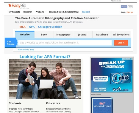 EasyBib Got a New Look! | EasyBib | Scoop.it