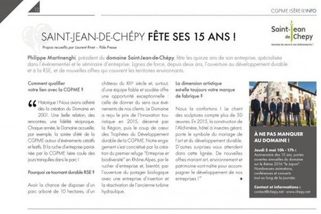 Newsletter printemps 2016 | DOMAINE ST JEAN DE CHEPY | Scoop.it
