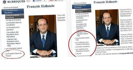 Pourquoi Valérie Trierweiler a disparu du site internet de l'Elysée   Observatoire Elections   politique 2.0   Scoop.it