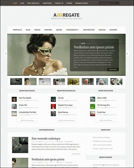 70+ Cool WordPress Magazine Themes Inspire | Design Revolution | Scoop.it