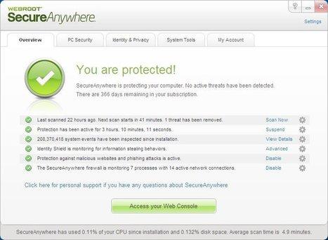 Webroot SecureAnywhere Internet Security Plus 2013 | Ciberseguridad + Inteligencia | Scoop.it
