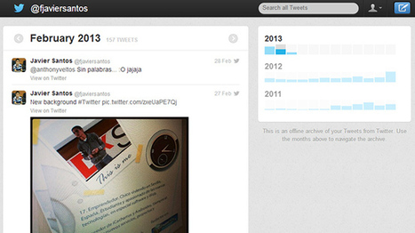 Sencillo truco para habilitar la descarga de nuestros tweets en Twitter | educación.hn | Scoop.it